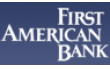 first american bank business checking account