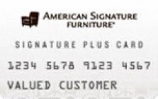 american signature furniture credit card