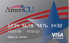americu credit union visa traditional credit card