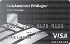 bankamericard privileges with travel rewards credit card