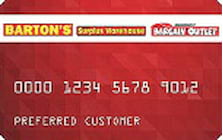 bargain outlet credit card