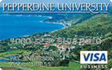 pepperdine university visa business rewards credit card