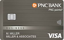 pnc bank points visa business credit card