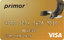 primor secured visa gold card