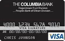 the columbia bank visa signature card