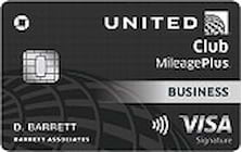 united mileageplus club business credit card