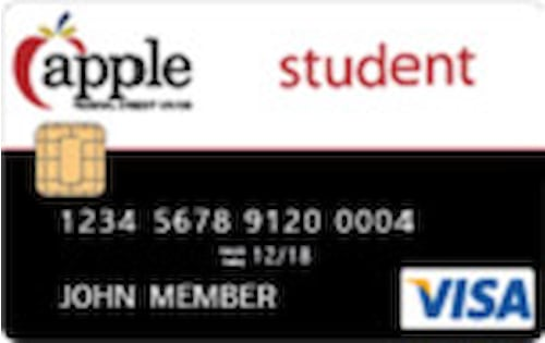 apple federal credit union student credit card