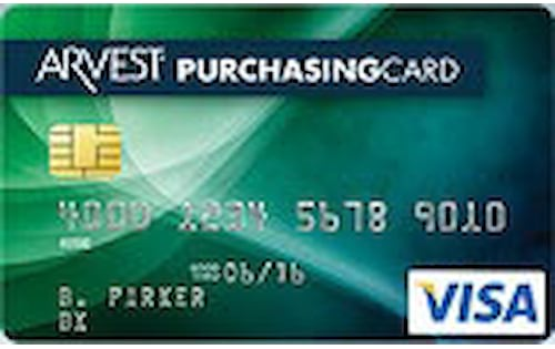 arvest bank purchasing credit card