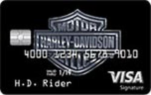 harley davidson secured credit card
