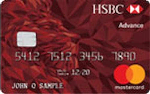 hsbc advance mastercard credit card