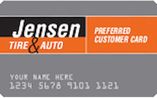 jensen tire and auto credit card