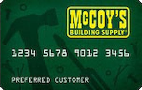 mccoys building supply credit card