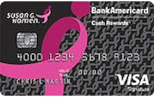 pink ribbon credit card