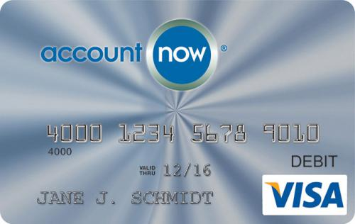 account now visa