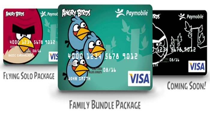 Angry Birds Credit Cards
