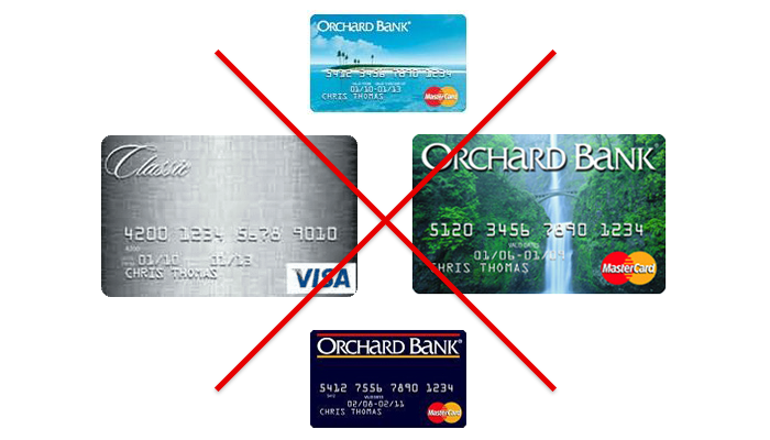 orchard bank credit cards discontinued