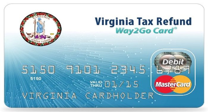 virginia tax refund way2go prepaid card. Black Bedroom Furniture Sets. Home Design Ideas
