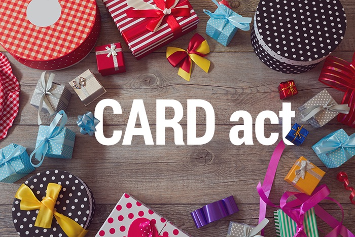 Card Act Gift Card Protections