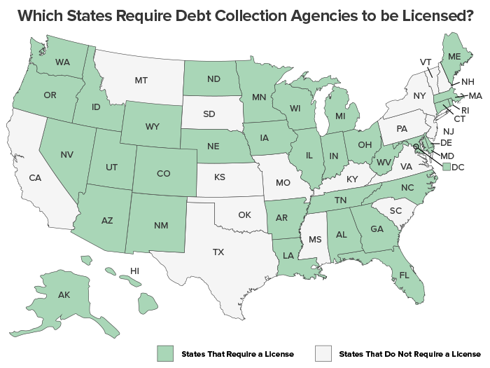 Which States Require Debt Collection Agencies to be Licensed