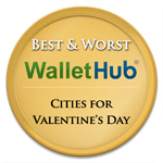 Best and Worst Cities for Valentine's Day Badge