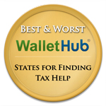 Best and Worst States for Finding Tax Help Badge