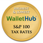 Wallet Hub 2014 Highest and Lowest S&P 100 Tax Rates
