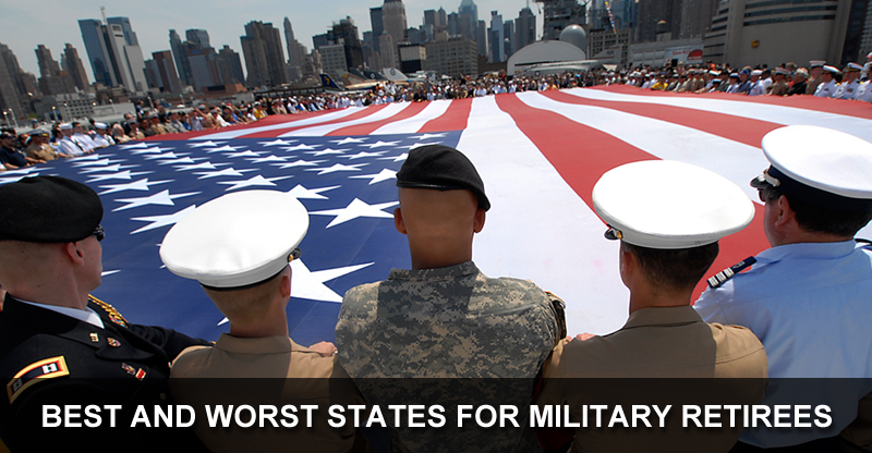 Car Insurance For Veterans >> 2015's Best & Worst States for Military Retirees | WalletHub®