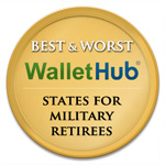 Wallet Hub Best Worst States for Military Retirees