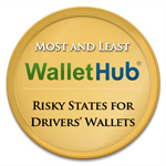 The Most and Least Risky States for Drivers Wallets Badge